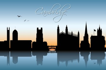 Cambridge UK skyline