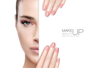 Beauty Makeup and Nail Art Concept Wall mural