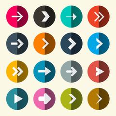 Arrows Set in Circle Vector Illustration