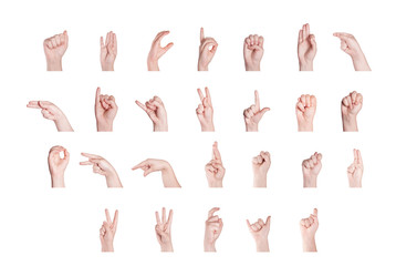 Finger Spelling the Alphabet