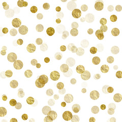 Gold White Dots Faux Foil Metallic Background Pattern Texture