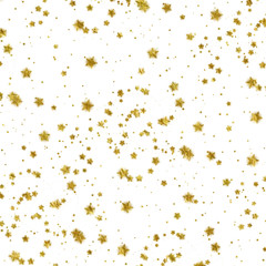 Gold Stars Faux Foil Metallic Background Pattern Texture