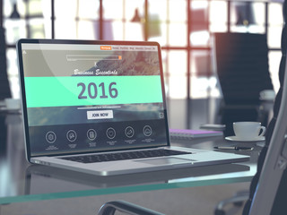 2016 Concept on Laptop Screen.