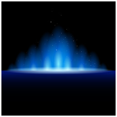 Abstract magic  light background. Blue holiday burst