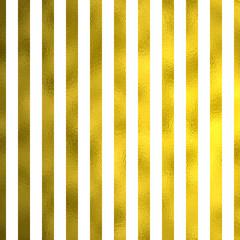 Gold Foil Vertical Metallic Stripes on White Background Striped