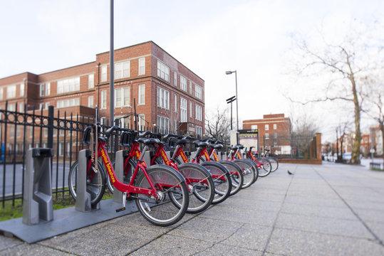 Capital bikeshare with tilt-shift effect