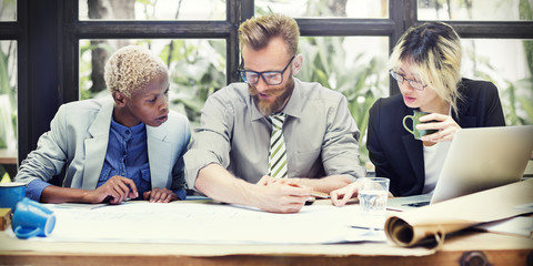 Team Teamwork Business Collaboration Meeting Concept