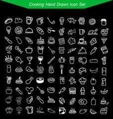 Cooking Hand Drawn Icon Set