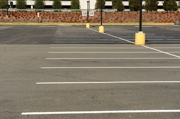 empty parking lot outdoors