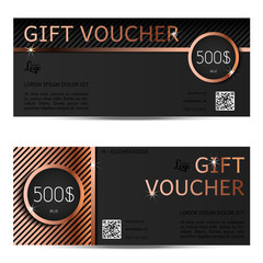 gift voucher vector coupon template for company corporate style