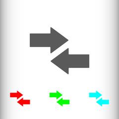 Left right arrow sign icon, vector illustration. Flat design sty