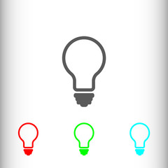 Light sign icon, vector illustration. Flat design style for web