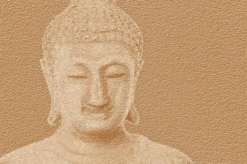 Fototapeta art grunge buddha statue texture illustration background obraz