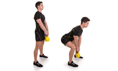 Kettlebell, Deadlift, Exercise