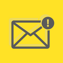 Message with notification, new mail sign icon, vector illustrati