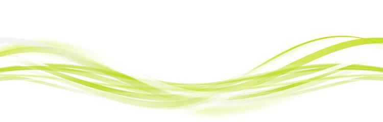 Welle Wellen Grün Band Banner