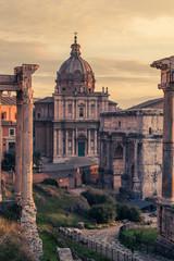 Fototapete - Rome, Italy:Santi  Luca e Martina Church in Roman Forum