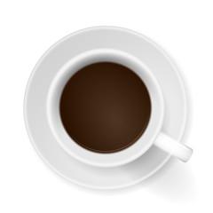 kaffeetasse mit untersetzer von oben I