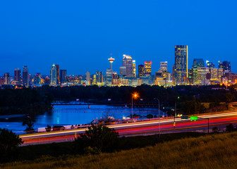 Calgary, Canada at night