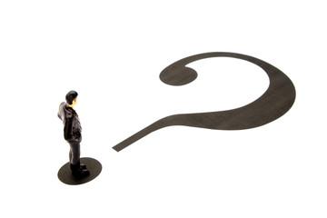 ビジネスイメージ―疑問を持つビジネスマン