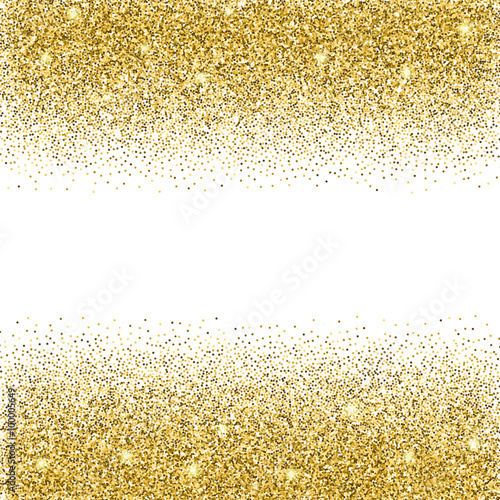 Gold Glitter Background.