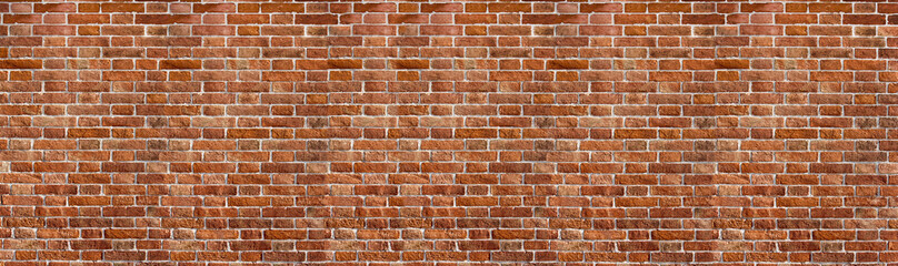 Poster Brick wall Vintage red brick wall texture