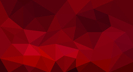 Red polygonal mosaic texture