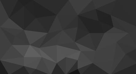 Black polygonal mosaic texture