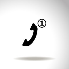 Missed Call vector icon.