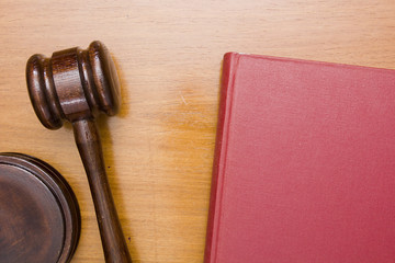 Wooden gavel of Law