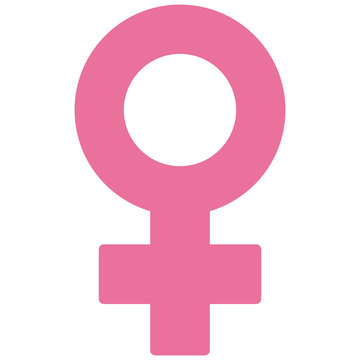 vector woman pink  symbol isolated on white