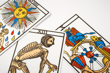 Tarot cards for divination with death