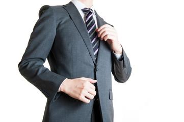 スーツのビジネスマン,上半身,白背景