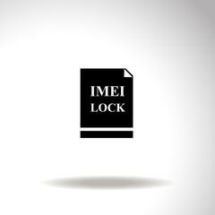 Imei lock vector icon.