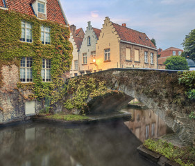 Bruges canals and bridges