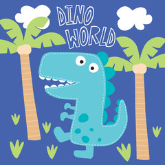dino world vector illustration