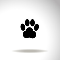 Traces of animal paw vector icon.