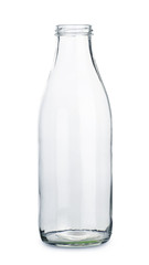 Empty transparent bottle
