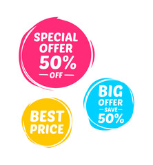 Special Offer, Big Offer & Best Price Marks
