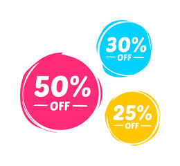 50%, 30% & 25% Off Marks