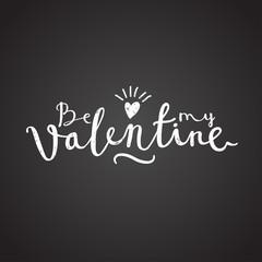 valentine invitation black white chalk