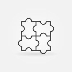 Puzzle linear icon