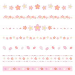 桜のラインセット / vector eps10