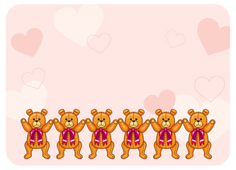 Cute color background with Teddy Bears