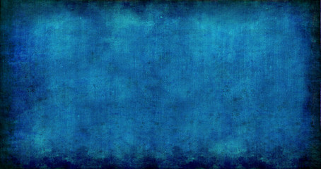 Painted Blue Linen With Visible Pattern