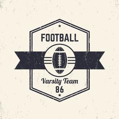 American Football team vintage logo, badge, t-shirt design, vector illustration