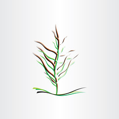 stylised tree vector illustration design