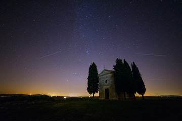 Starry Sky over Church