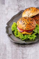 Fresh Homemade hamburger