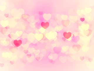 hearts bokeh abstract background for valentine